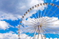 Ferris wheel joy sky clouds amusement Park Royalty Free Stock Image