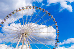 Ferris wheel joy sky clouds amusement Park Stock Photos