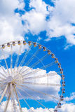 Ferris wheel joy sky clouds amusement Park Stock Images