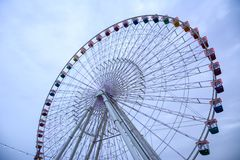 Ferris wheel at global village dubai amusement park Stock Photos