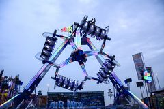 Ferris wheel at global village dubai amusement park Stock Images