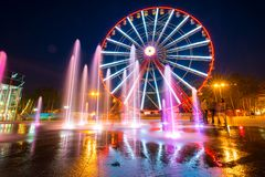 Ferris wheel in Kharkiv Royalty Free Stock Photography