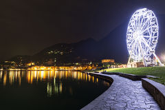 Ferris wheel in Laveno-Mombello, Maggiore Lake - Lombardy Royalty Free Stock Photography