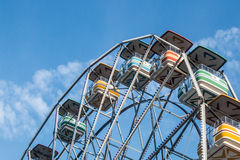 Ferris Wheel with Light clouds in Background Stock Photo