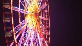 Ferris Wheel Lights At Night almacen de video