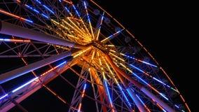 Ferris Wheel Lights At Night almacen de metraje de vídeo