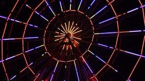 Ferris Wheel Lights At Night stock video footage