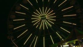 Ferris Wheel Lights At Night stock video