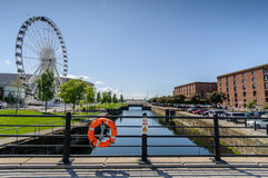Ferris Wheel Liverpool England Stock Photos