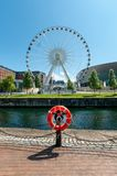 Liverpool Ferris Wheel UK. Ferris wheel of Liverpool is located near Echo Arena on Liverpool waterfront at Albert Dock Stock Photography
