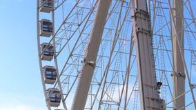 Ferris wheel in London Hyde park at Winter Wonderland - LONDON, ENGLAND - DECEMBER 11, 2019
