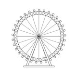 Ferris Wheel London Thin Line Vecteur Image stock