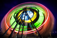 Ferris Wheel. In long exposure Royalty Free Stock Image