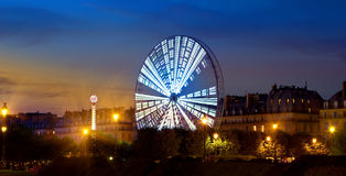 Ferris Wheel lumineux Photos libres de droits