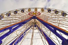 Ferris wheel in the lunapark. Ferris wheel in lunapark in izmir Turkey Stock Image
