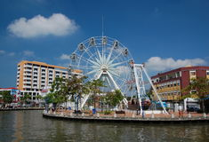 Ferris wheel in Malacca City Royalty Free Stock Photo