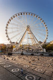 Ferris wheel Manchester. A big Ferris wheel at Piccadilly gardens in the city center of Manchester, England Royalty Free Stock Photo