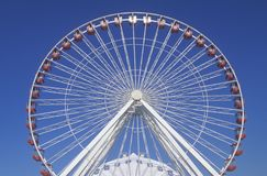 Ferris Wheel, Marinepijler, Chicago, Illinois Stock Foto's