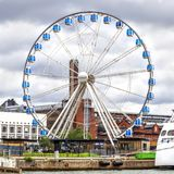 Ferris Wheel on Market Square on cloudy day, Helsinki. Ferris Wheel on Market Square on cloudy day, Helsinki, Finland Stock Photography