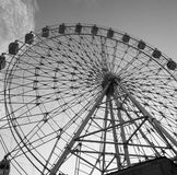 Ferris wheel in monochrome Royalty Free Stock Photos