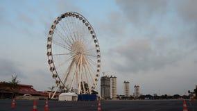 Ferris wheel in morning, Time lapse. HD stock video