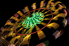 Ferris wheel in motion Royalty Free Stock Photo
