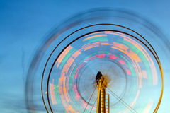 Ferris wheel with motion blur Stock Image