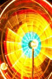Ferris Wheel Motion at Night Stock Photos