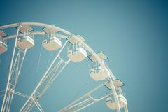 Ferris wheel municipal park with blue clear sky on the backgroun. D Royalty Free Stock Photo