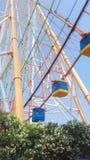 Ferris Wheel in Nanchang. A pastel colored ferris wheel in a nanchang theme park stock photography