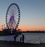 Ferris Wheel At National Harbor Fotografering för Bildbyråer