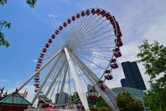 Ferris Wheel on Navy Pier Chicago Royalty Free Stock Image
