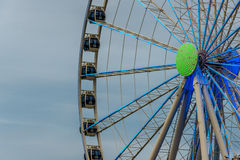 Ferris Wheel Neon Lights Stock Photo