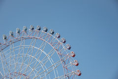 Ferris wheel in a nice clear blue sky with space for text Stock Photos