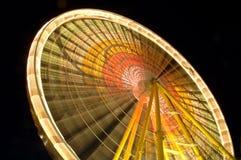 Ferris wheel at night. In movement Stock Image