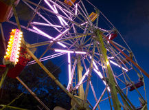Ferris Wheel By Night Stock Images