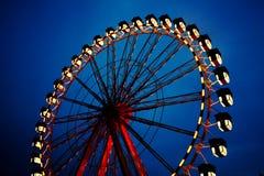 Ferris wheel. A ferris wheel at night royalty free stock photography