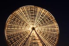 Ferris wheel at night. Ferris wheel at a funfair at night stock photos