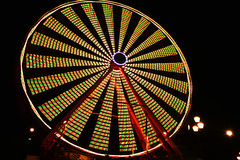 Ferris Wheel At Night stock fotografie
