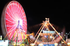 Ferris Wheel At Night Imagem de Stock