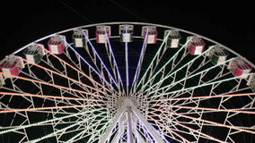 Ferris Wheel At Night stock video footage