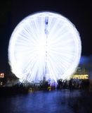 Ferris Wheel At Night Fotografie Stock
