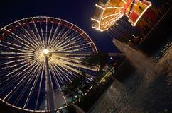 Ferris Wheel At Night immagine stock libera da diritti