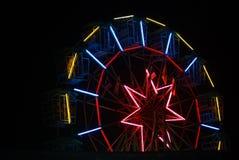 Ferris Wheel At Night Stock Foto