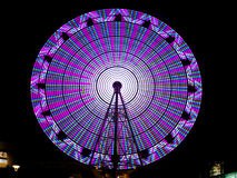 Ferris Wheel At Night Stock Foto's