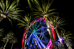 Ferris Wheel At Night Photographie stock