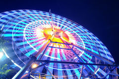 Ferris Wheel At Night Stockfotos