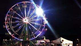 Ferris Wheel At Night almacen de video