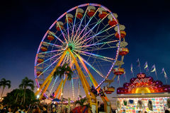 Ferris Wheel At Night Fotografia Stock Libera da Diritti