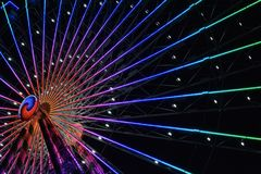 Ferris Wheel At Night Fotografia Stock Libera da Diritti